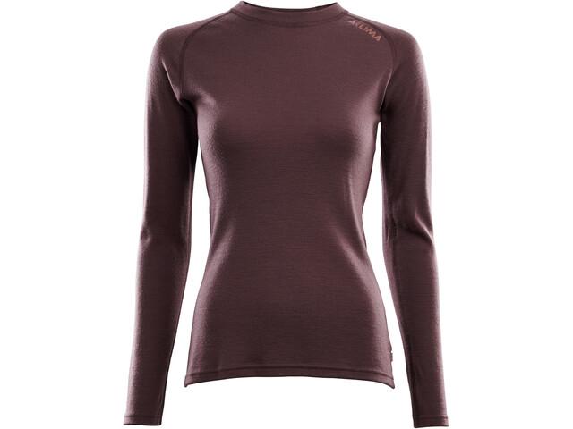Aclima WarmWool Camiseta Cuello Barco Mujer, rojo